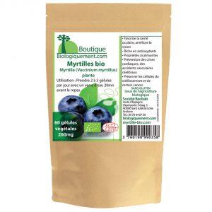 Acheter de la myrtille bio en gélules sur la boutique Biologiquement.com